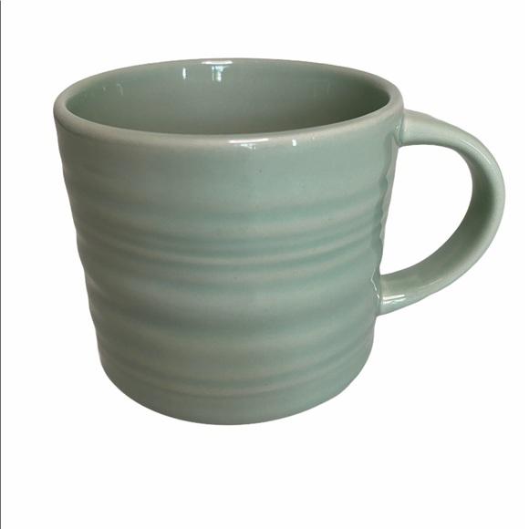 Starbucks Mint Green Ripple Sea Glass mug 14oz